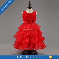 Cocktail flower girl kids wear lace children prom princess dress