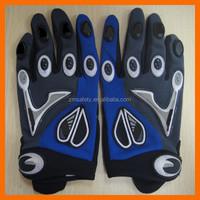 neopreno cuero sintetico anti vibracion acolchado guantes de carreras para la seguridad y los deportes