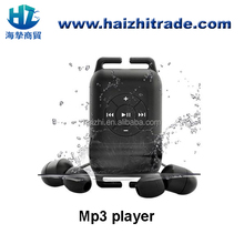 100% waterproof sport mp3,underwater mp3,4gb 8gb waterproof mp3 Player with FM radio