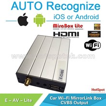 Cost down AV wifi box mirror link touch screen car screen for car radio navigation system