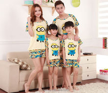 Hot Movie Despicable Me Minions pajamas/Home Dress/Sleepwear/ Parent-Child pajamas Wholesale price