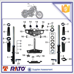 TC200 cruiser motorcycle steering stem, suspension shock absorber for ITALIKA