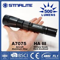 Colorful 3 watt led rechargeable military torch