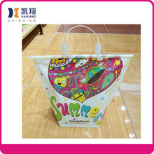 2015 new products waterproof Plastic women bag