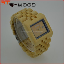 Fashion quartz digital waterproof wood watch with Japan movement