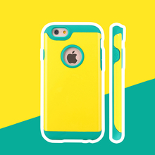 Bright-colored mix color cell phone case for iphone 6 phone accessory case