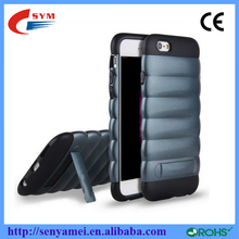 For iphone 6 phone mobile Shockproof 2 in 1silicone Case with stand