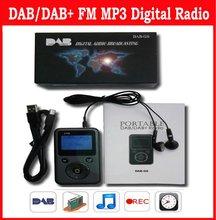 New Mini Pocket DAB DAB+ FM Radio MP3 Recorder Clock + 4GB TF Card
