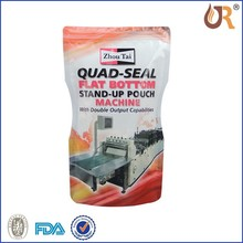stand up plastic packaging bags food safe/reclosable stand up plastic food bag