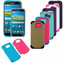 2-in-1 TPU Rubber & Plastic Protective Case for Galaxy S6 G9200