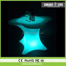 Waterproof PE plastic led sofa/ led bar table/ nightclub/ led furniture for outdoor