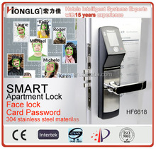Security biometric face recognition door lock for home,apartment,villa,government and office using