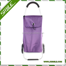 new design 2 wheel popular fashion fold up shopping cart with bag (directly from factory)