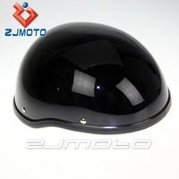 ZJMOTO Black Open Face Motorcycle Biker Bobber Novelty Helmet Motorcycle Open Face Helmet Half Helmet Motorcycle