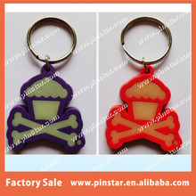 Custom Glow in the dark Qibla Direction Souvenirs Grateful Dead Soft Rubber PVC Keychain,Keyring,Key Holder