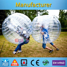 Low prices human body bubble ball inflatable bumper ball for adult