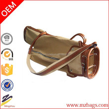 manufacturer for sale holding 6 golf sticks Luxury outdoor sports canvas leather golf bag