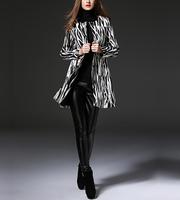 Unique Women Winter Coats Jacquard Black Cheap Jacket