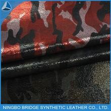 1304002-5123-8 Free Sample Available PU Print Shoes Camouflag PU Fabric