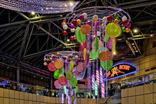 2015 christmas candy shopping mall hanging decoration