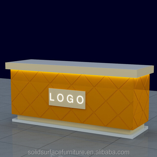 Free Design Modern Man made Stone Commercial Shop Counter