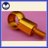 Gold anodzied electronic aluminum knobs