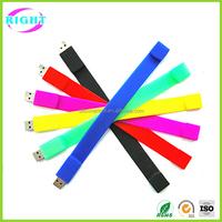 Promotional Gift Cheap Silicon Wristband bulk 1gb USB Flash Drive