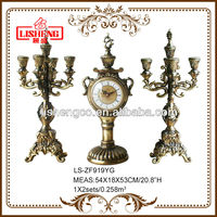 Table clock and decoration candelabra candle holder candlestick ZF919YG