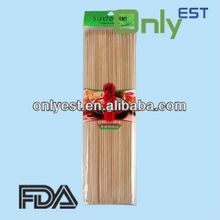 China manufacturer of diameter 2.5mm general use bamboo knotted skewer