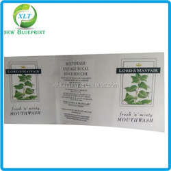 Clear waterproof vinyl plastic cosmetic labels, clear label printing