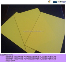 yellow red colored frosted rigid PVC sheet for stationary and printing