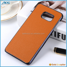 New Arrival Lichee Pattern design leather Case For Samsung S6 edge plus Phone Case Protective Cover Case