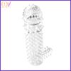G-spot penis condom crystal penis sleeve soft silicone penis sleeve