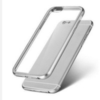 Luxury Aluminum Metal Frame&clear Acrylic Back Case Cover For iphone 6/6s 4.7inch