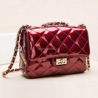 Wholesale High Quality Patent Leahter Quilted Chain Bag Paris Cross Handbag (XJBG1)
