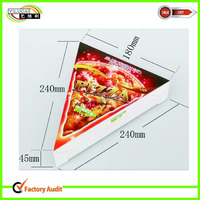 custom triangle white board food packaging box for pizza