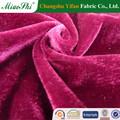 2015 100% polyestery atar teñido micro terciopelo ropa fábrica de changshu