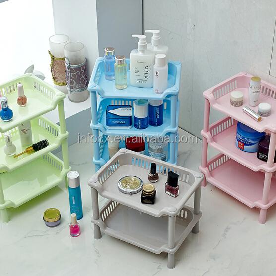 Good selling bathroom square plastic storage rack kitchen for Bathroom 94 percent