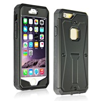 For iphone case 6& 6 plus waterproof hybrid tpu pc combo case