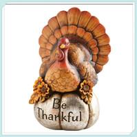 Turkey be thankful turkey thanksgiving table decor