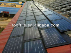 building integrated photovoltaic solar roof panel