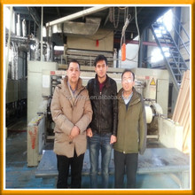 Uzbekistan customer visit our factory for pp nonwoven fabric used for baby diaper