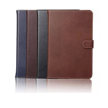 Luxury Business Flip Wallet Card Stand Case For iPad Mini 4 Genuine Leather Smart Cover