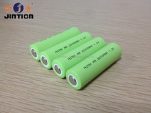 Ni-mh AA 2200mAh 1.2v battery cell with flat top