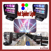 sharp beam decorate spider moving head light,8*10W RGBW 4in1 led spider light, bar&night club spider beam light