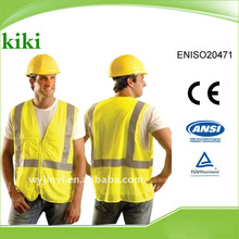 Meet ENISO20471 Newest style hot selling Good Quality Industrial Safety Products ,safety vest .jacket with zipper closure