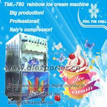 TML760 big production rainbow soft ice cream machine for sale