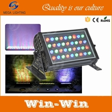 36 x3 w waterproof IP65 rgb led outdoor wall washer light led uplight