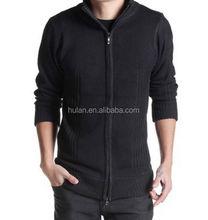 2015 hot sale spring &winter man's stripe cardigan sweater with zipper