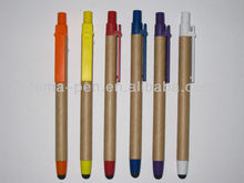 2014 hot selling recycled paper pen (touch paper 2 in 1 pen)